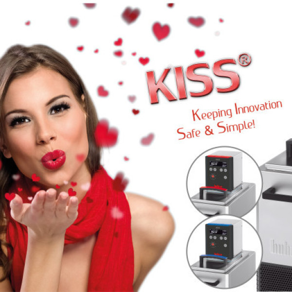 The KISS range comprises more than 50 models of heating and cooling, amongst them immersion circulators, baths and circulators.